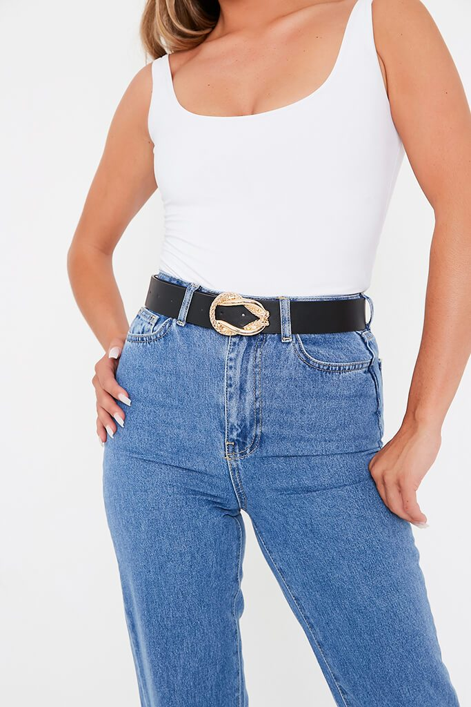 Black Woven Snake Belt view main view
