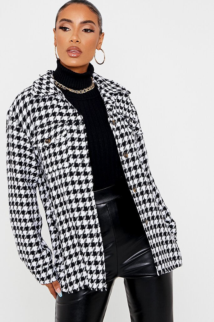 Black Dogtooth Shacket