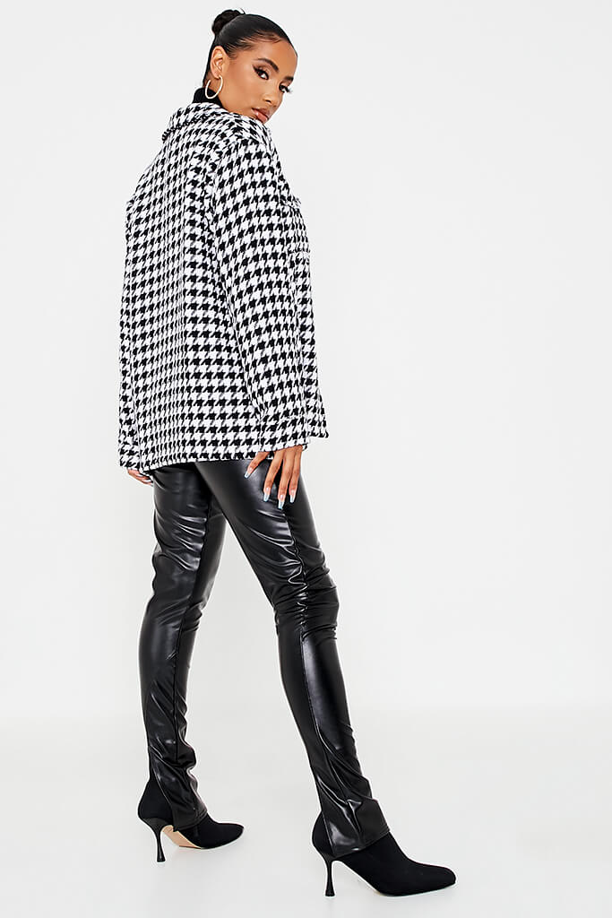 Black Dogtooth Shacket view 4