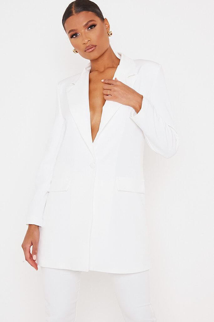White Ultimate Oversized Blazer view main view