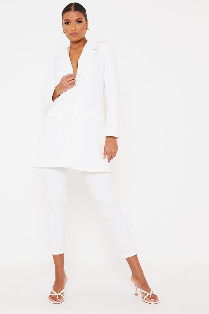 White Ultimate Oversized Blazer view 2
