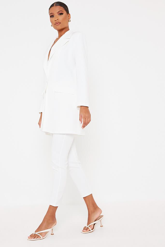 White Ultimate Oversized Blazer view 3