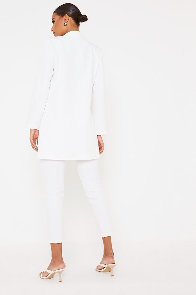 White Ultimate Oversized Blazer view 4