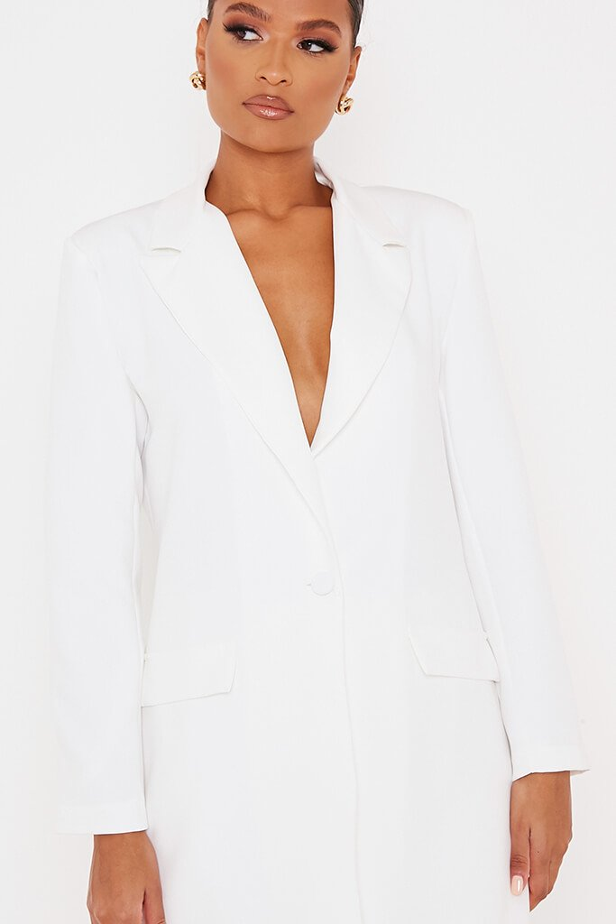 White Ultimate Oversized Blazer view 5