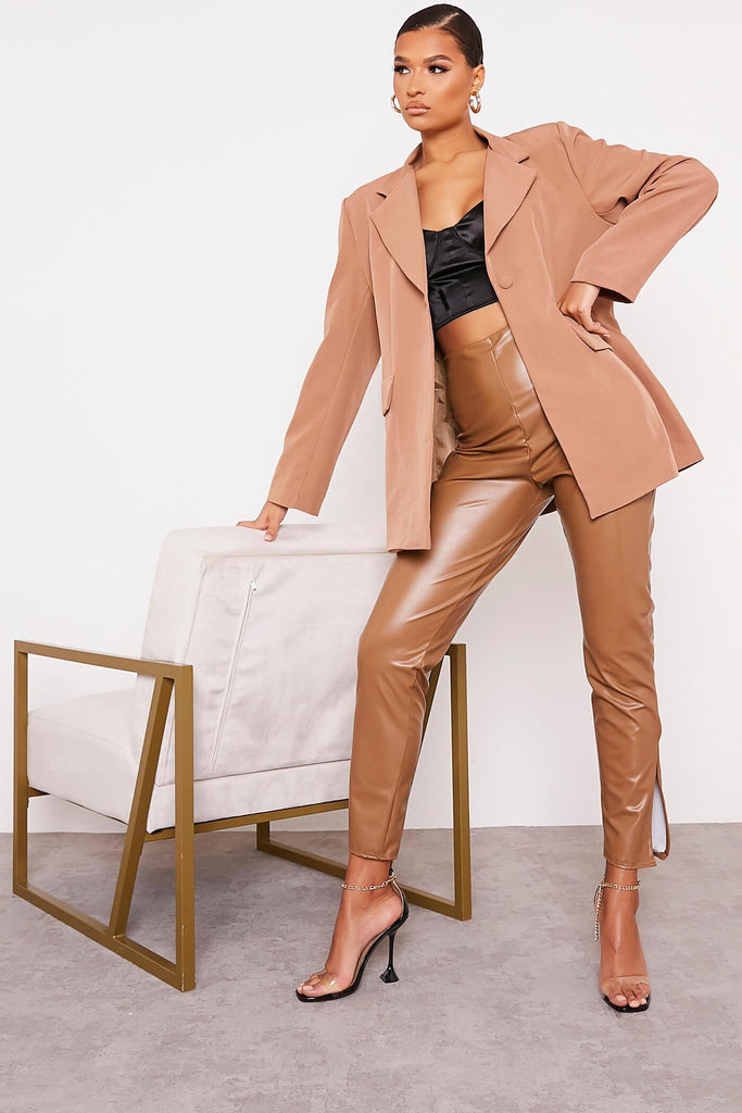 Mocha Ultimate Oversized Blazer view 2