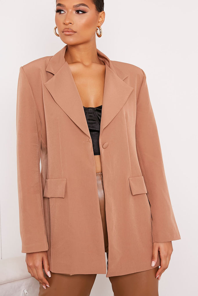 Mocha Ultimate Oversized Blazer view 5