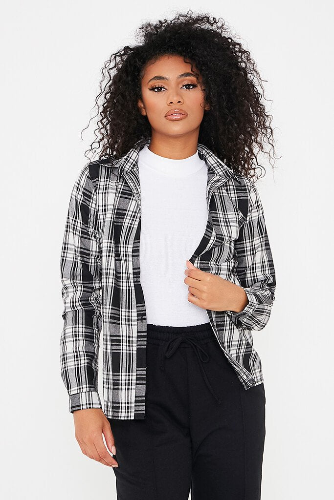 Black Check Print Shirt