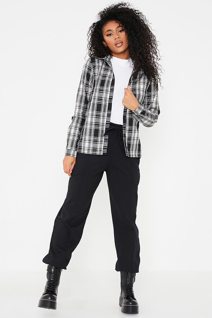 Black Check Print Shirt view 2