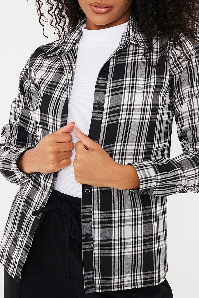Black Check Print Shirt view 5