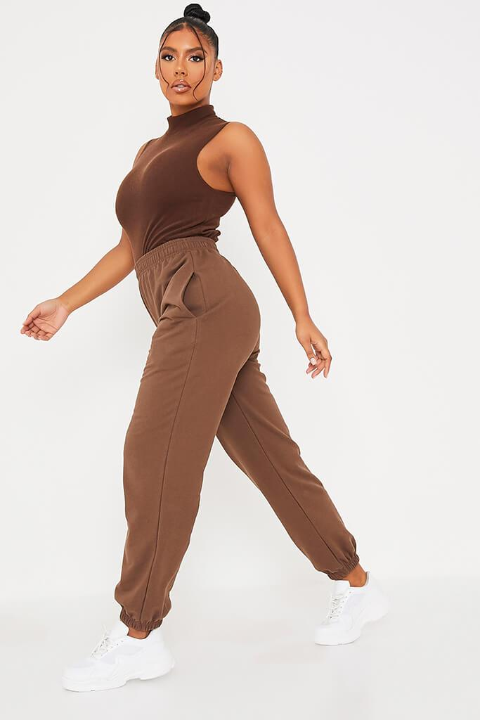 Chocolate Basic Oversized Joggers view 3