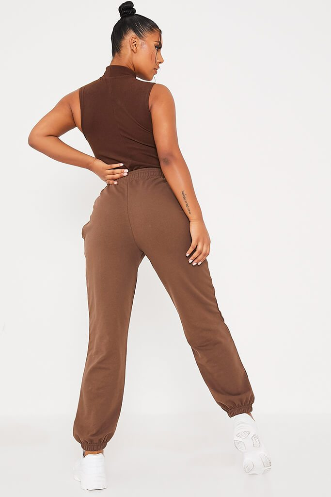 Chocolate Basic Oversized Joggers view 4