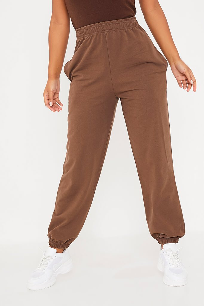 Chocolate Basic Oversized Joggers view 2