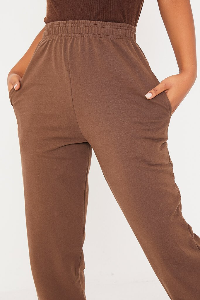 Chocolate Basic Oversized Joggers view 5
