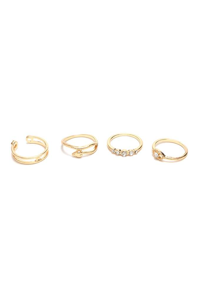 Gold Stack Ring Pack