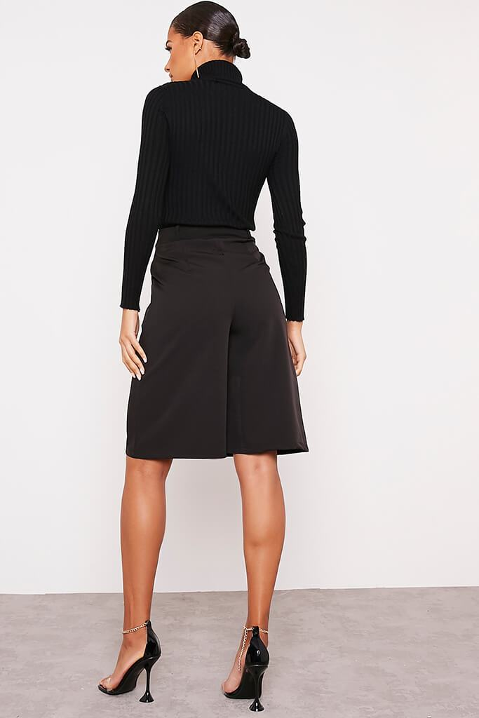 Black Longline Tailored Shorts view 4