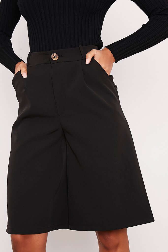 Black Longline Tailored Shorts view 5