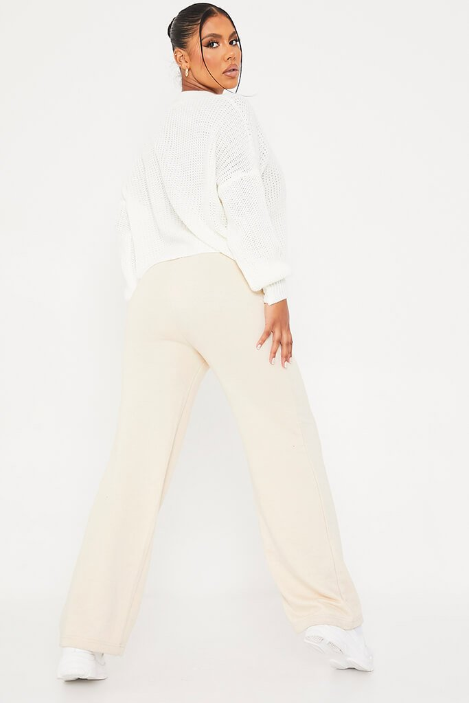 White Button Down Crop Cardigan view 4