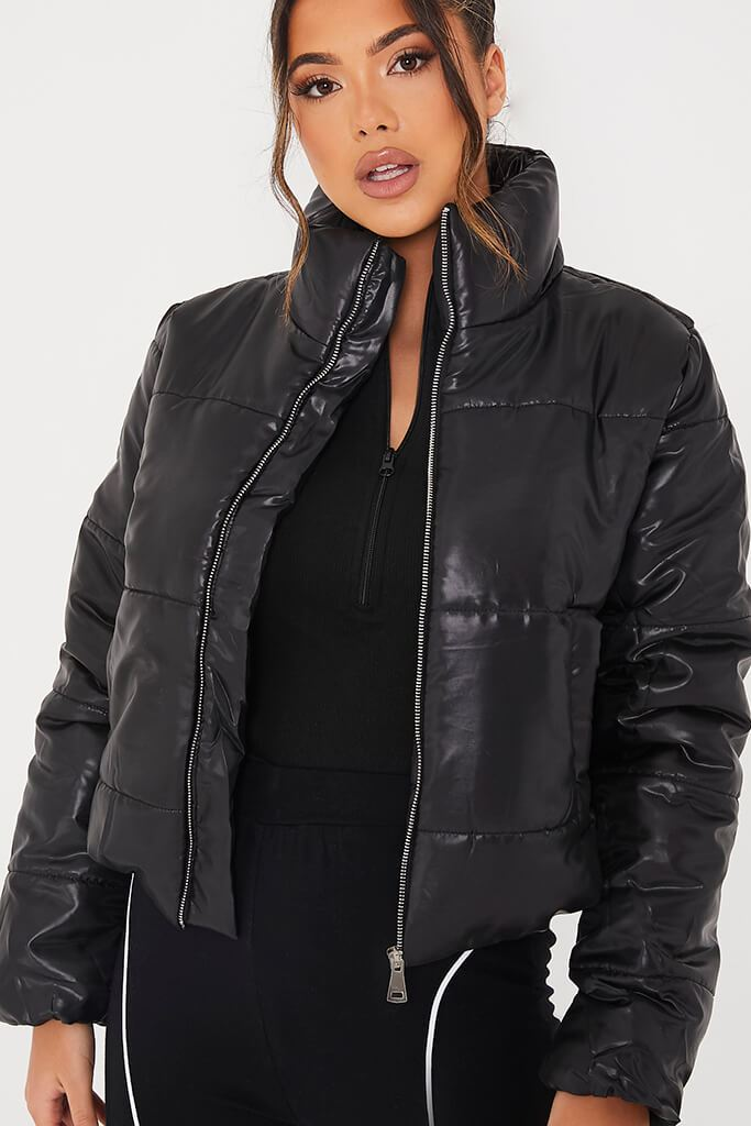 Black Padded Jacket view 5