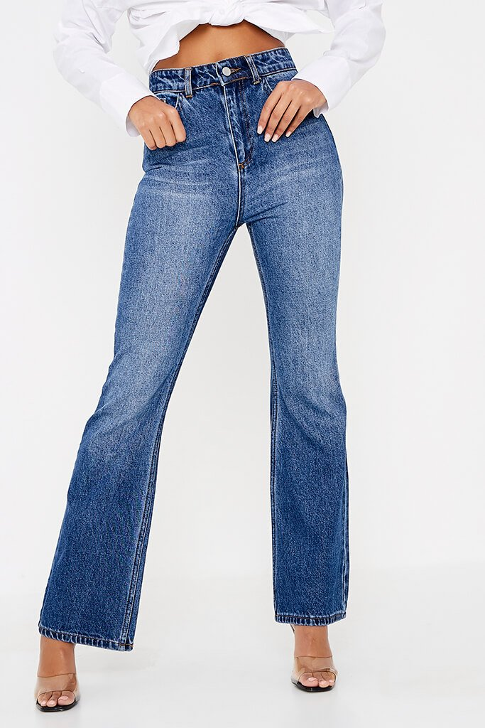 Dark Wash Rigid Flare Jeans view 2