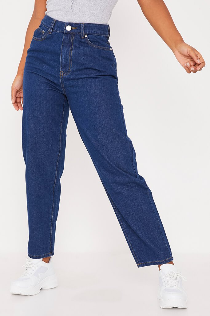 Dark Wash Straight Leg Jeans view 4