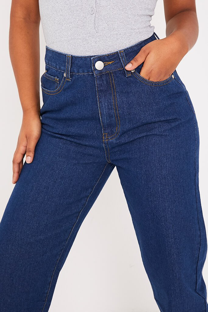 Dark Wash Straight Leg Jeans view 5
