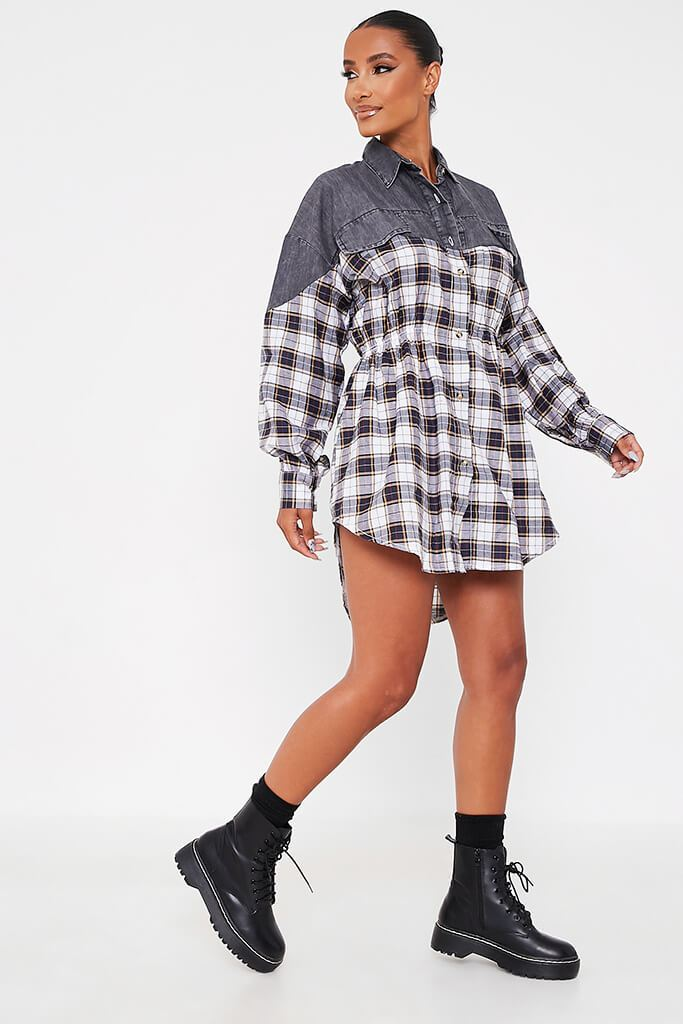 Grey Flannel Shirt Dress view 3
