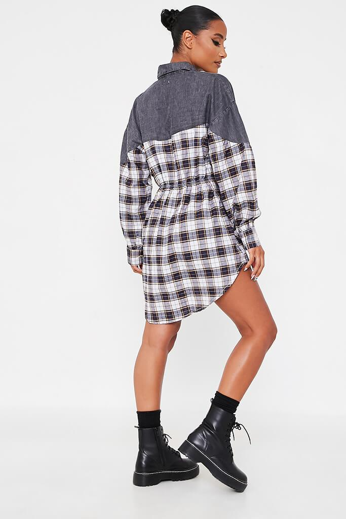 Grey Flannel Shirt Dress view 4