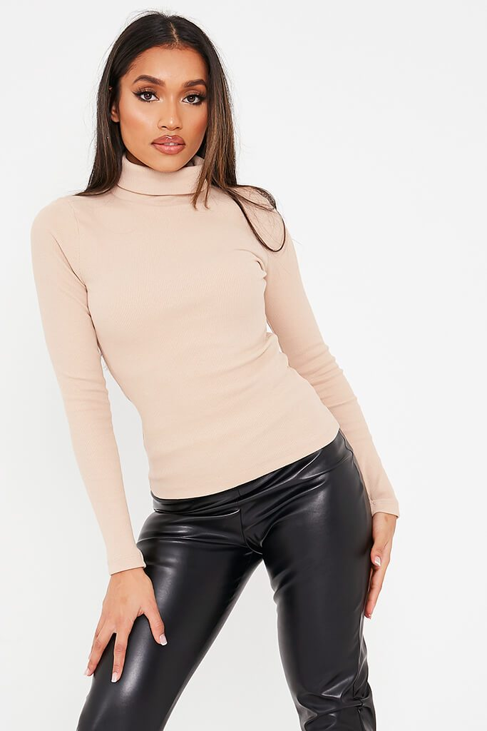 Stone Rib Roll Neck Top view main view