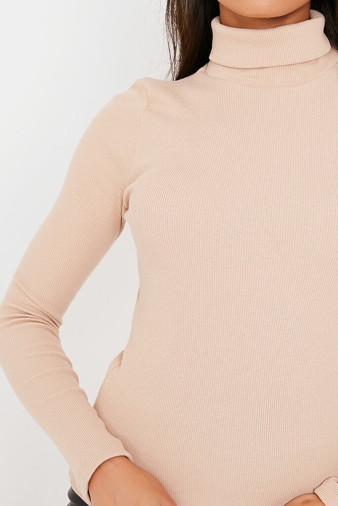Stone Rib Roll Neck Top view 5