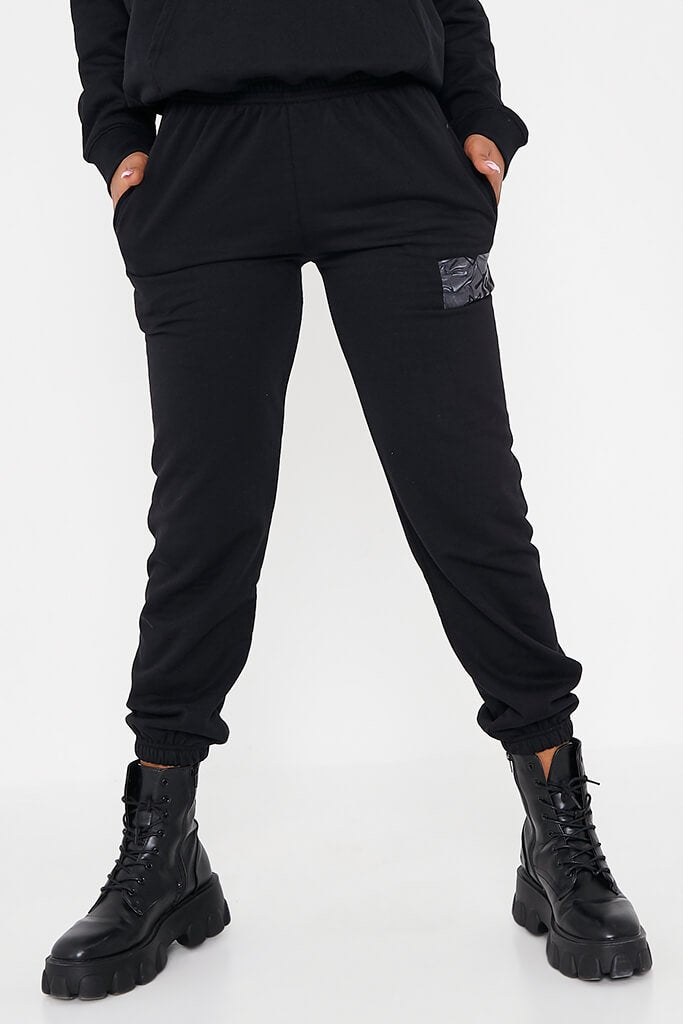 Black Mtv Waved Graphic Oversized Joggers view 2
