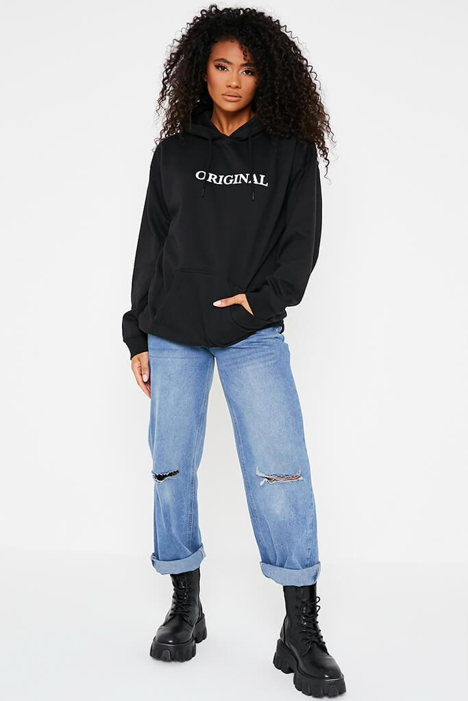 Black Original Oversized Hoodie view 2