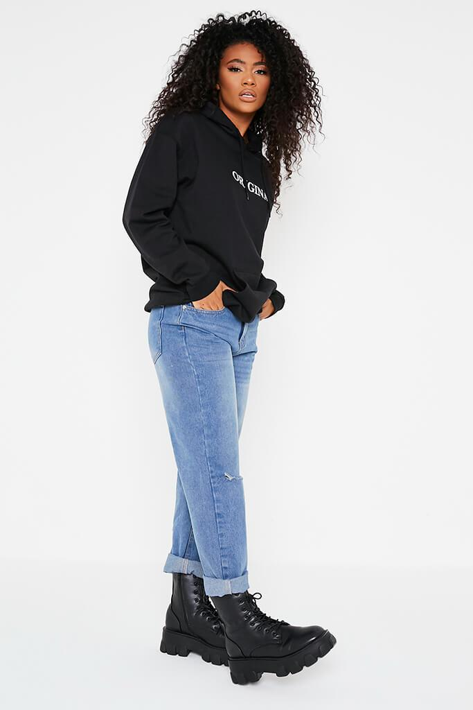 Black Original Oversized Hoodie view 3