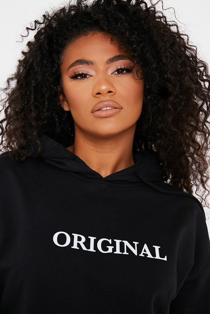 Black Original Oversized Hoodie view 5