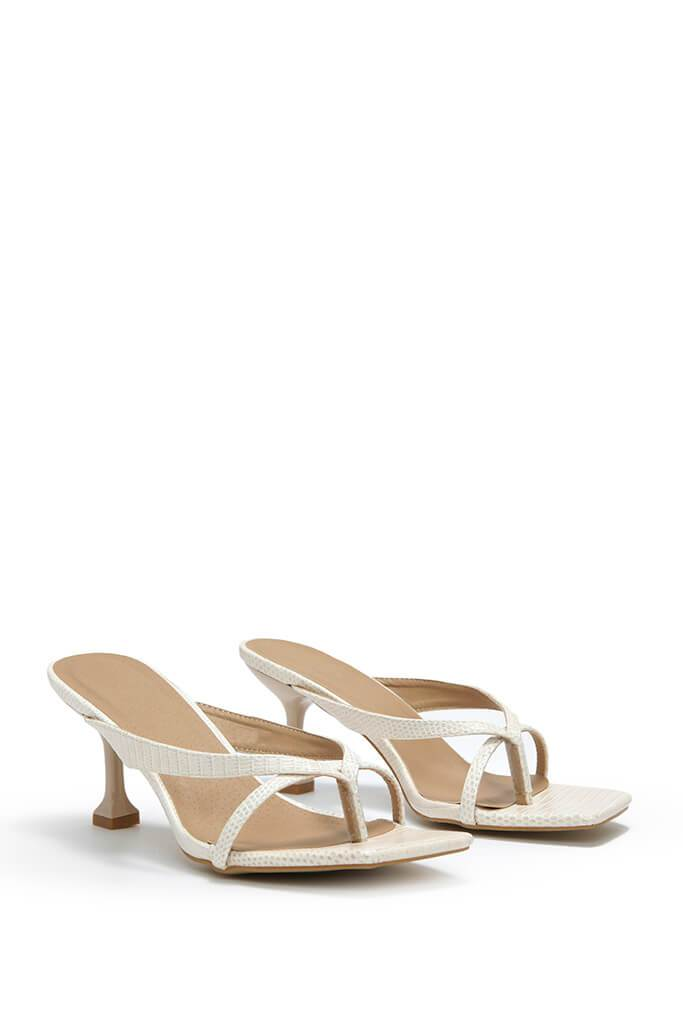 Cream Asymmetric Mules
