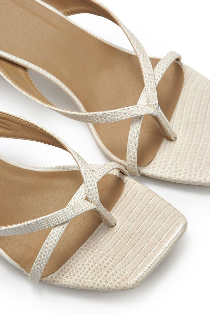 Cream Asymmetric Mules view 2