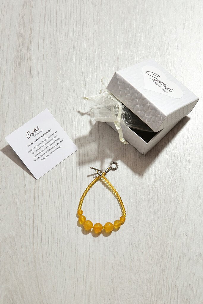 Yellow Agate Crystal Bracelet view 2