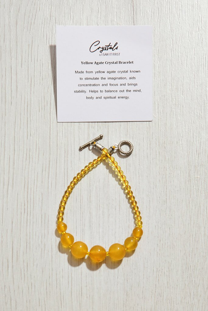 Yellow Agate Crystal Bracelet view 3