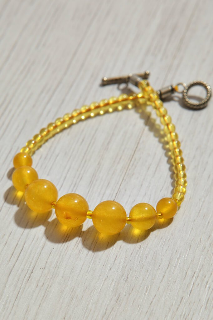 Yellow Agate Crystal Bracelet