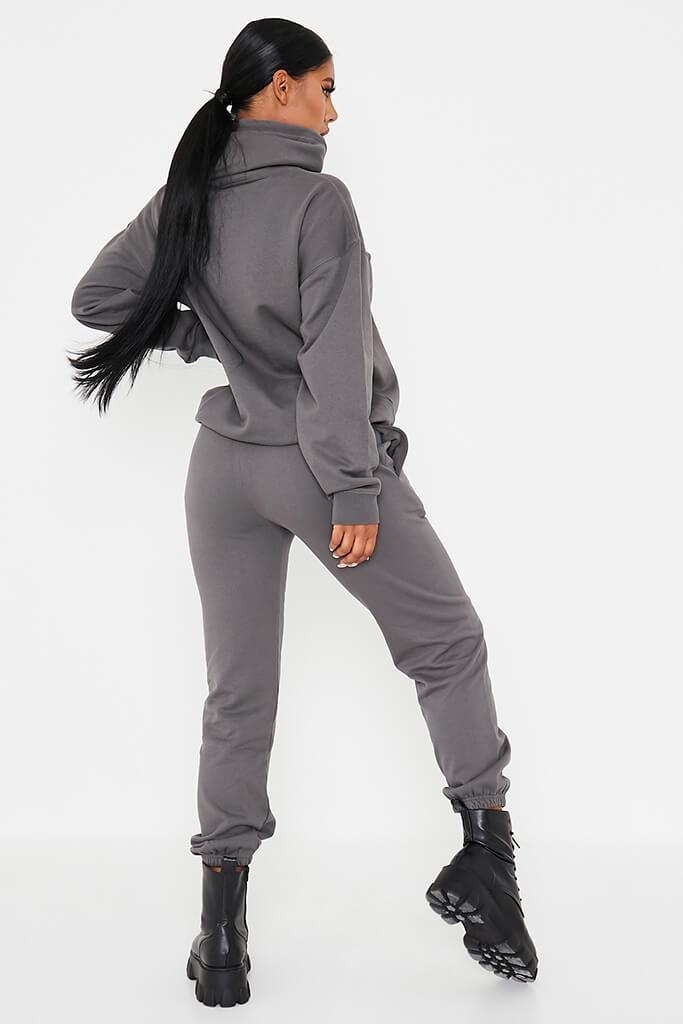 Charcoal Louisiana Graphic Oversized Joggers view 4