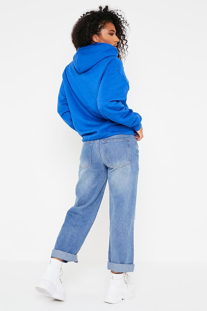 Blue Ultimate Oversized Basic Hoodie view 3