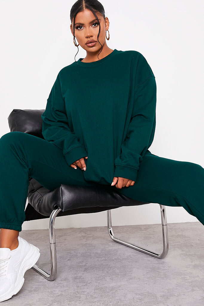 Forest Green Ultimate Oversized Crew Neck Sweatshirt