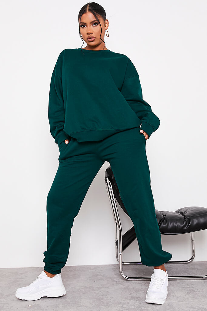 Forest Green Ultimate Oversized Crew Neck Sweatshirt view 2