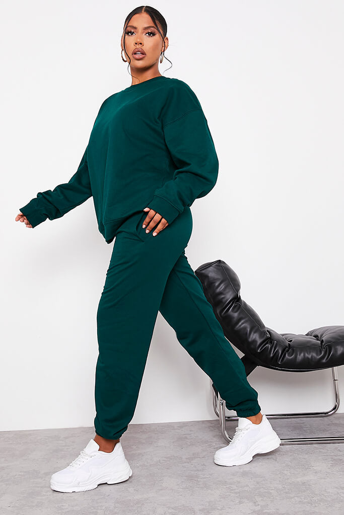 Forest Green Ultimate Oversized Crew Neck Sweatshirt view 3