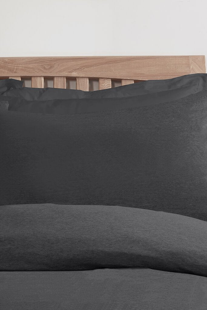 Charcoal Single Set Jersey Bedding view 2