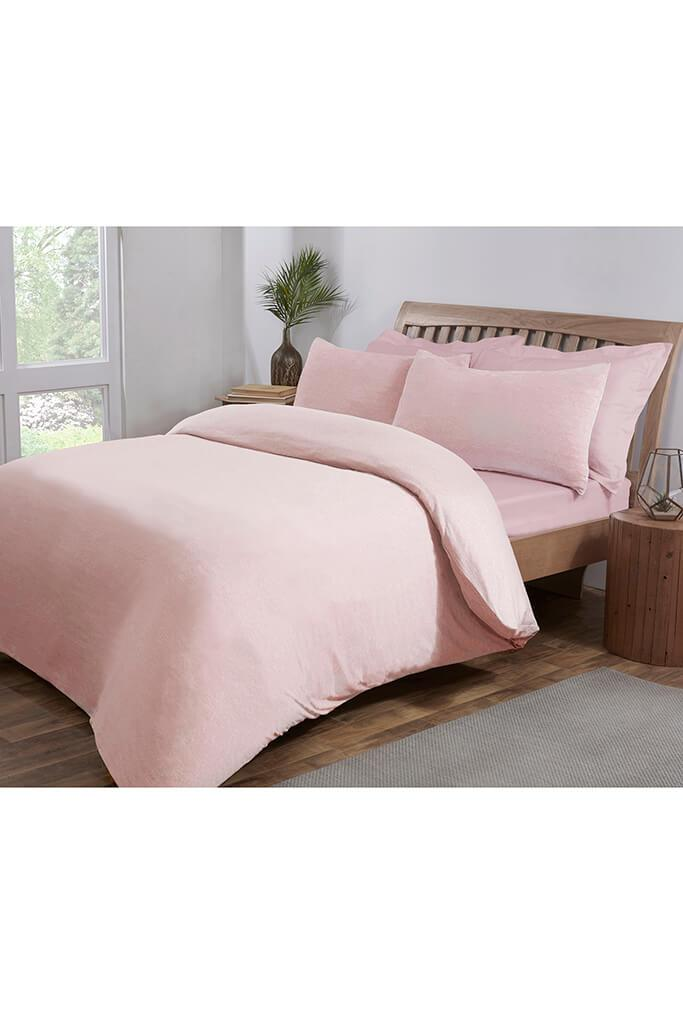 Pink King Size Jersey Fitted Sheet view 2