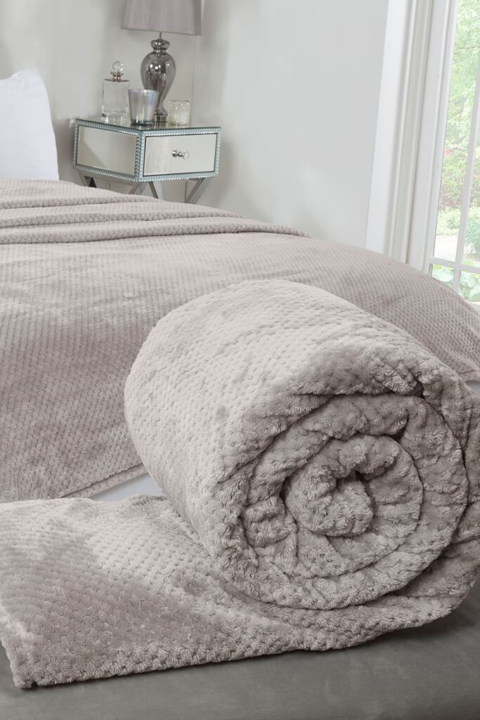 Mink Oversize Waffle Throw view main view