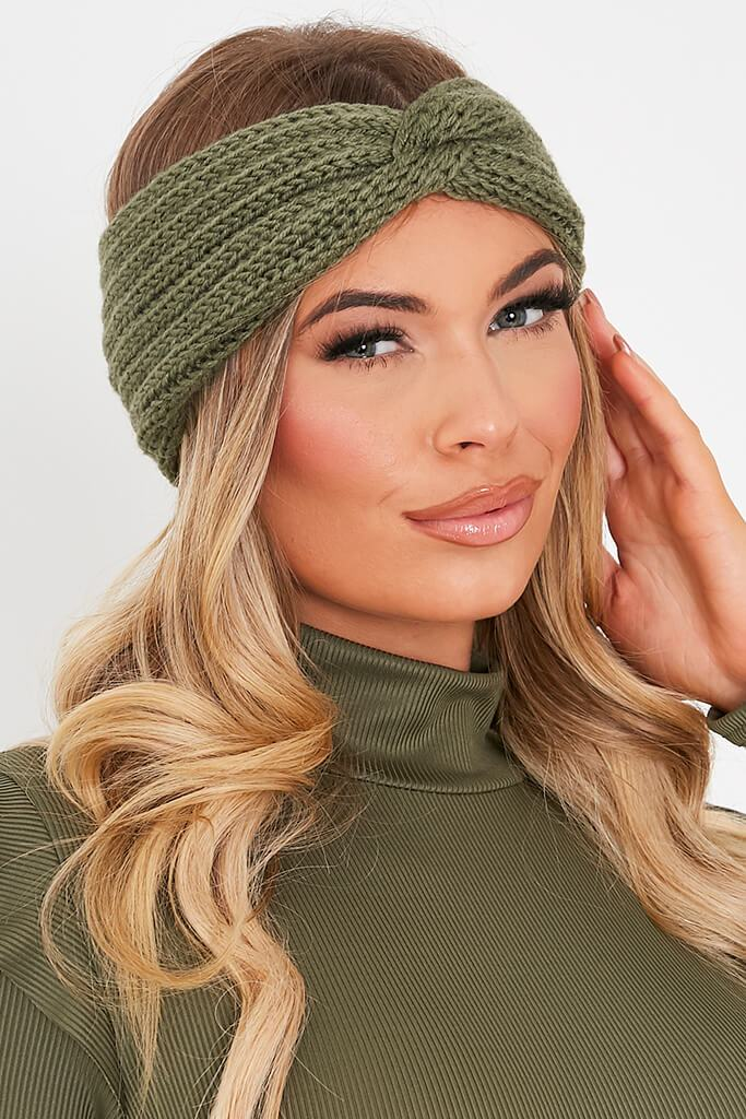 Sage Knitted Twist Headband