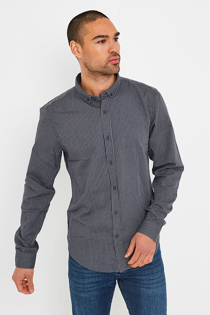 Dark Grey Men's Smith & Jones Raglan Shirt