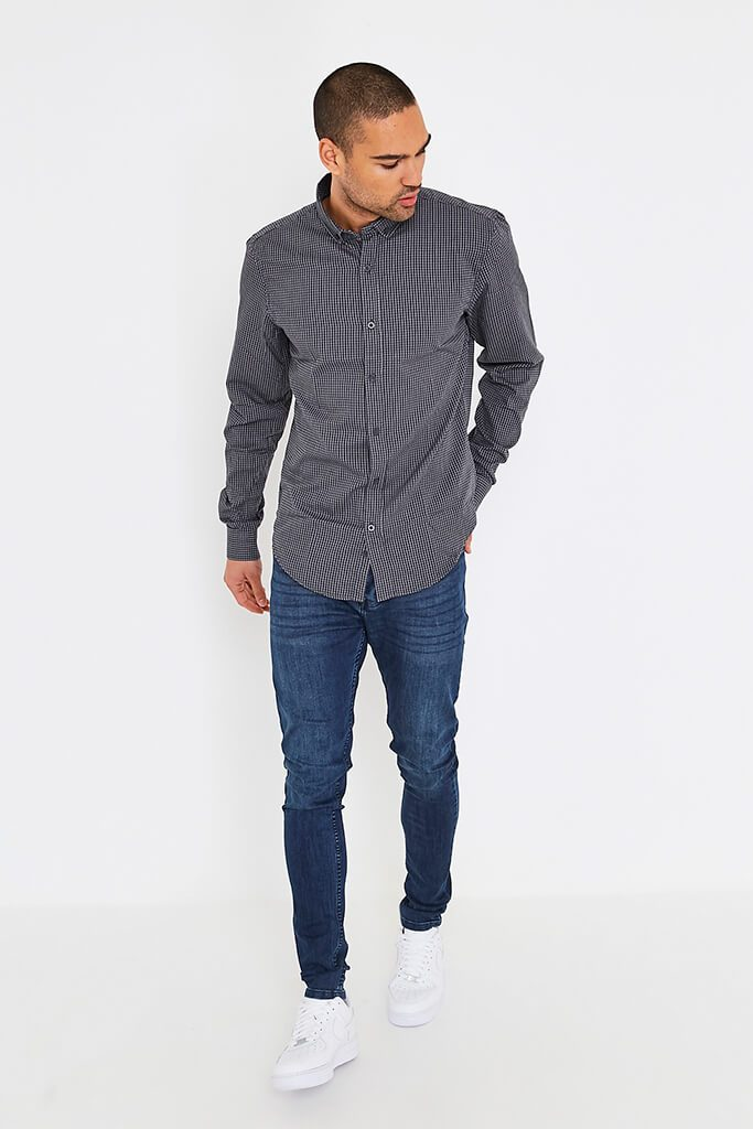Dark Grey Men's Smith & Jones Raglan Shirt view 2