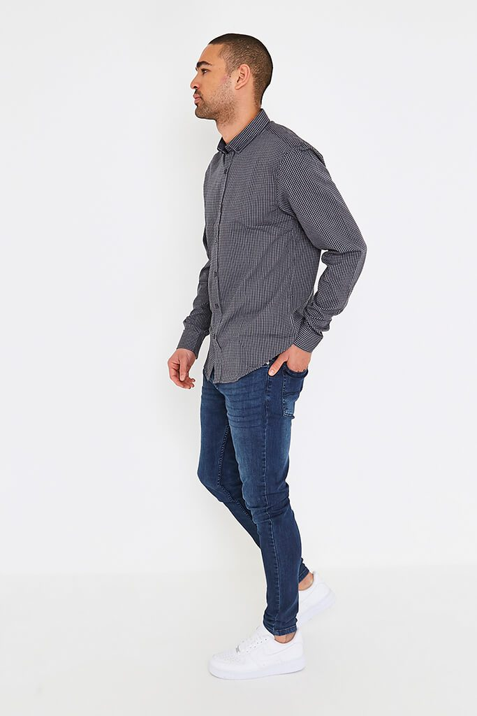 Dark Grey Men's Smith & Jones Raglan Shirt view 3
